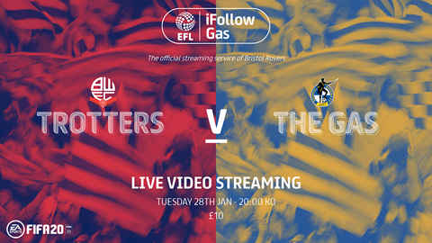 Watch tonight's game live on iFollow!